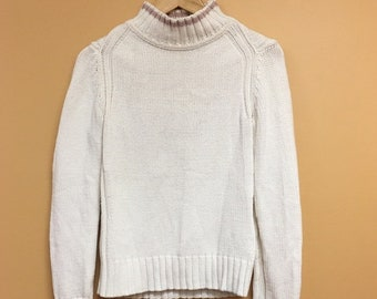 Vintage 90's Tommy Hilfiger Cable Knit Cowl Neck Sweater Small