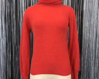 Red Angora Lambswool Blend Turtleneck Sweater 34bffeeb3