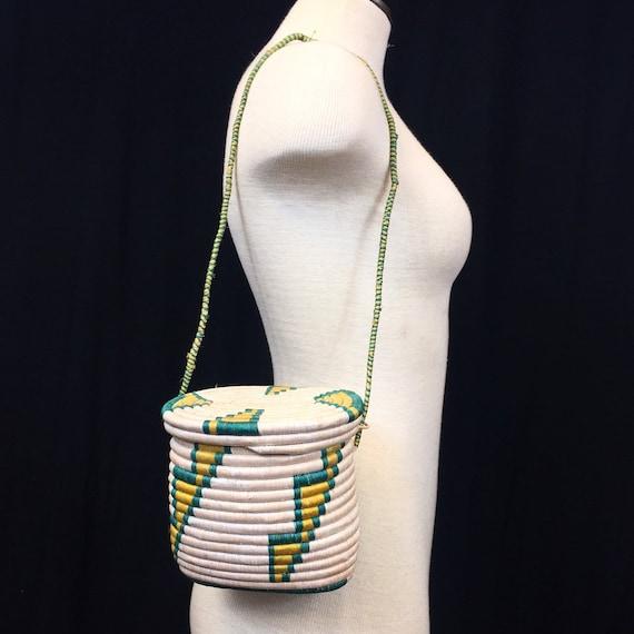 Vintage Woven Coiled Basket Purse