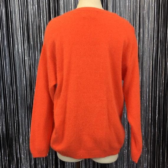 Vintage Orange Lambswool /& Angora Blend Sweater