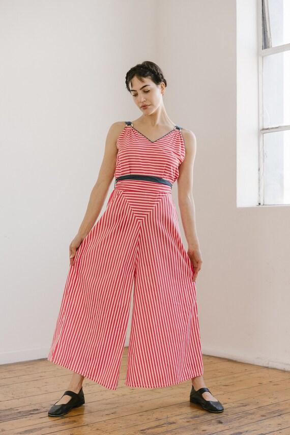 RARE 1930s patriotic wide leg beach pyjamas OOAK … - image 2