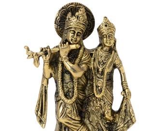 Decorative radha krishna statue handicrafts product by Vyomshop™BH06253