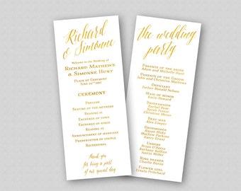 boho wedding program template order of ceremony wedding etsy