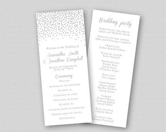 floral wedding program template boho wedding ceremony etsy