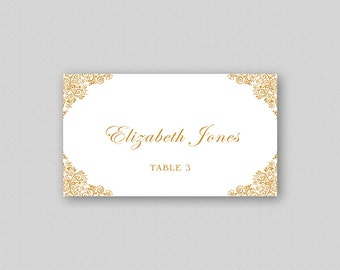 photograph about Gold Printable Place Cards referred to as Printable Location Card Template Gold Vacation spot Playing cards Wedding day Room