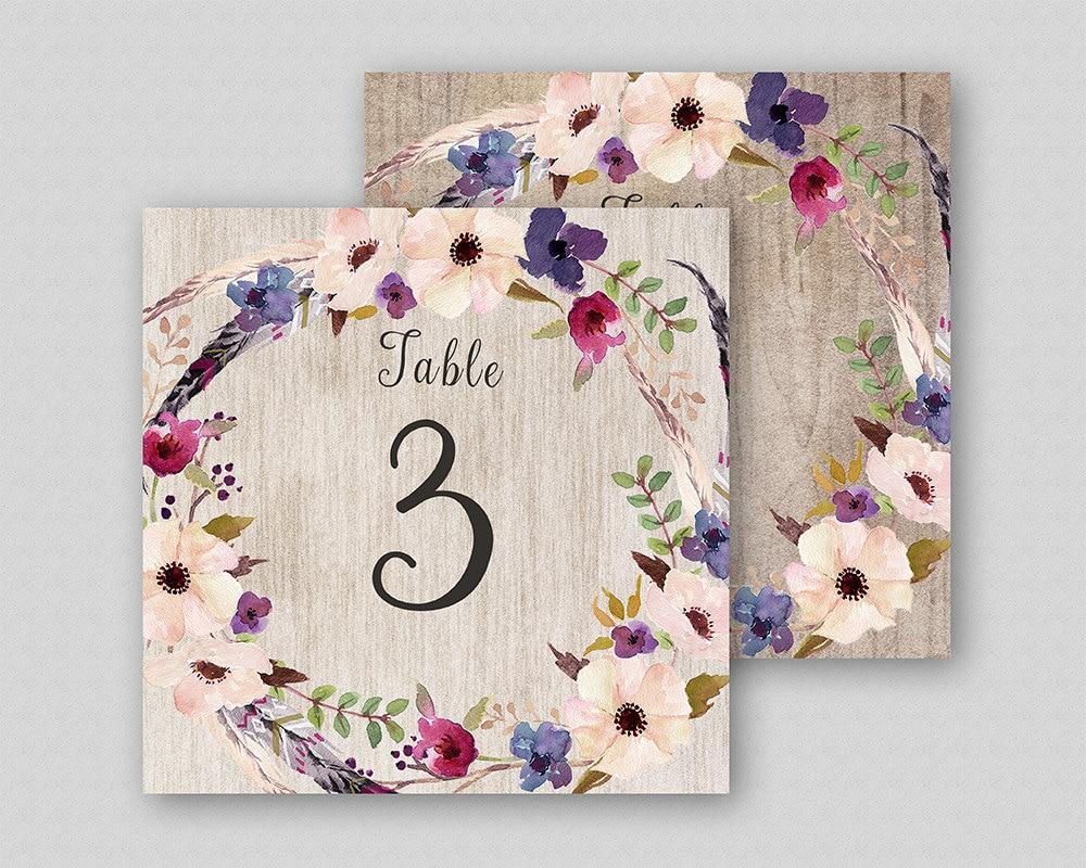 Floral Tischnummern herunterladen Boho Hochzeit Tisch Nummer | Etsy
