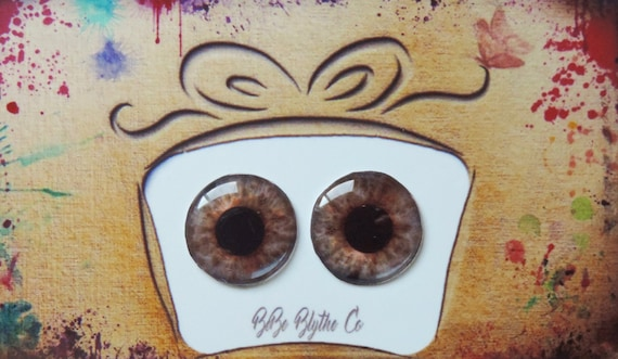 Blythe Middie and Pullip Doll Eyes Realistic Resin Chips Custom Customize OOAK Art Doll Petite Blythe Eye Chips Mini Pullip Eye Chips A27