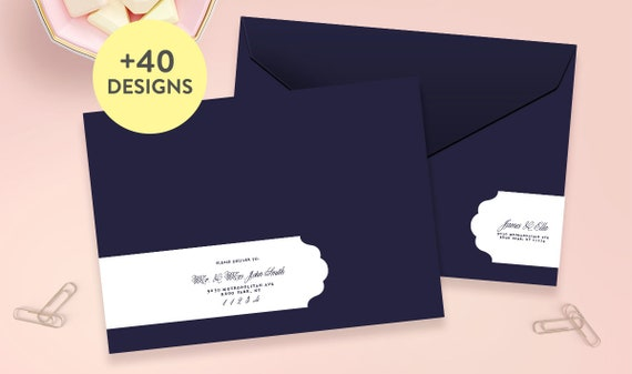 Wedding Address Labels Wrap Around