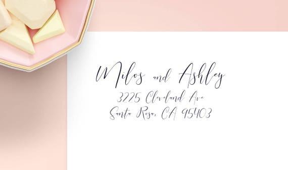calligraphy return address labels custom address label etsy