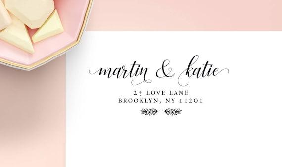 rustic return address labels wedding address labels wedding etsy