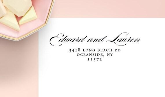 Return Address Labels Address Label Wedding Labels | Etsy
