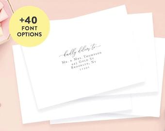 "Guest Address Labels, Guest List Address Labels, Wedding Address Labels 3.5"" x 1.75"", Custom Clear Wedding Label, Wedding Invitation Address"