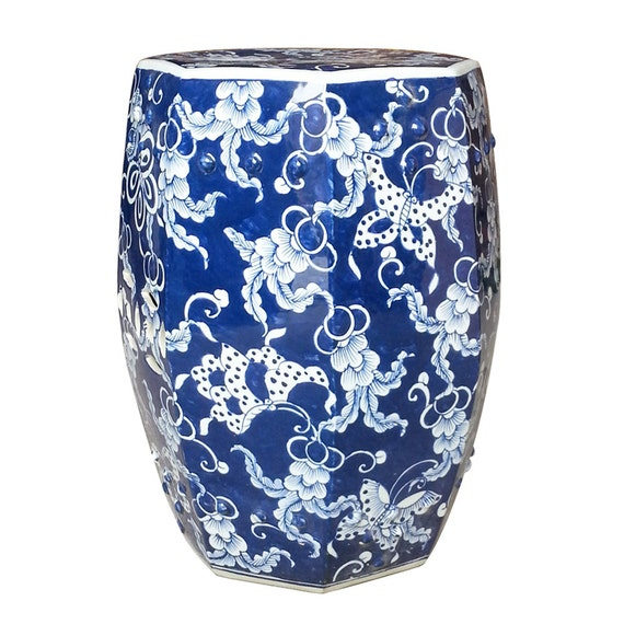 Blue And White Chinese Porcelain, Porcelain Garden Stools Chinese