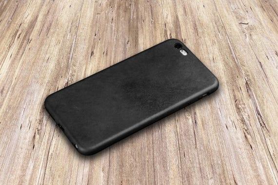 Leather Iphone 6s Case Black Iphone 6s Plus Case Genuine Etsy