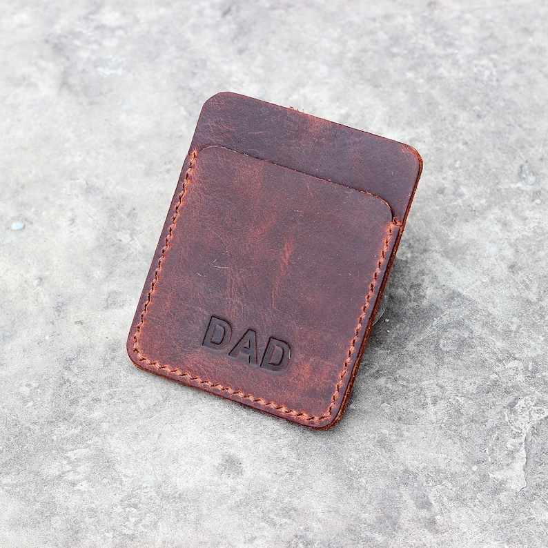 438fc4a79626 Leather card wallet Leather card case Front pocket wallet