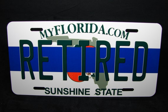 Retired Police Officer Novelty Metal License Plate