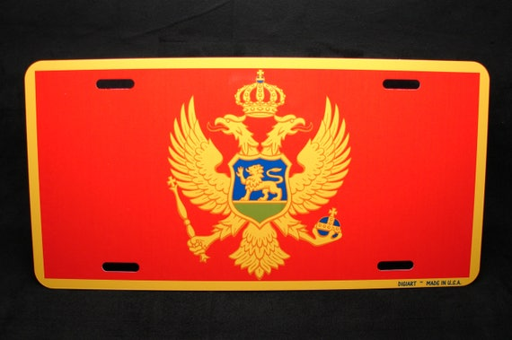 AMERICAN MOLDAVIAN FLAGS Metal Black License Plate Frame Auto SUV Tag Holder