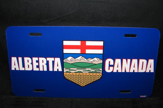 alberta flag car license plate canadian license plate etsy
