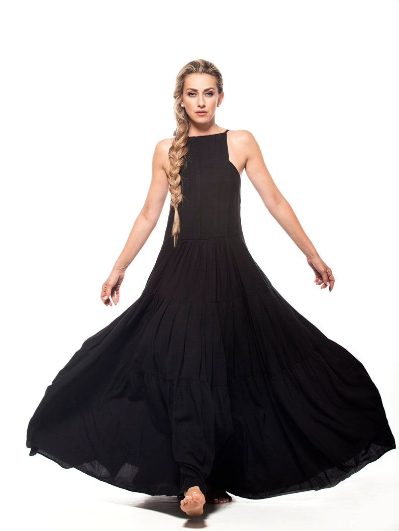 Maxi Dress Black Dress Plus Size Clothing Dress For Women | Etsy