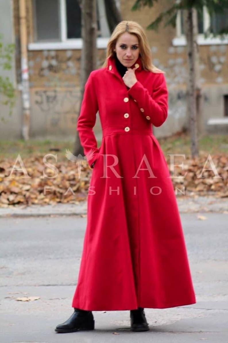 7c240de10a0 Long Warm Winter Cashmere Coat Women Wool Coat Plus Size