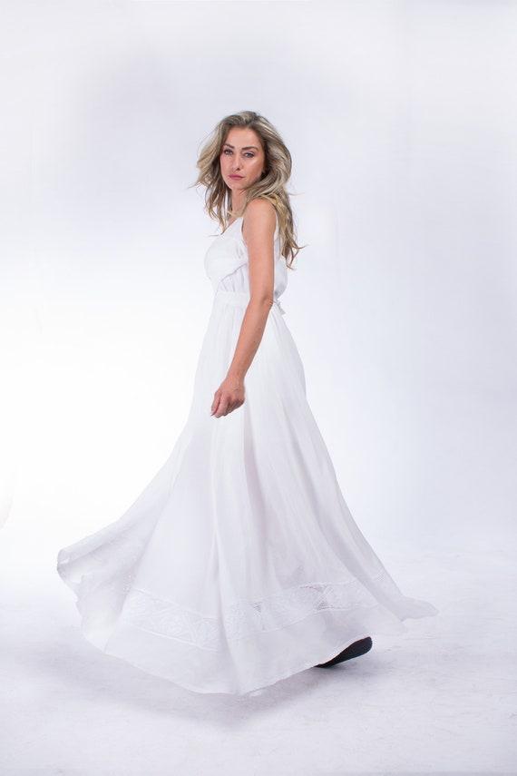 80a494610c6 White Linen Dress Linen Maxi Dress Plus Size Dress Summer