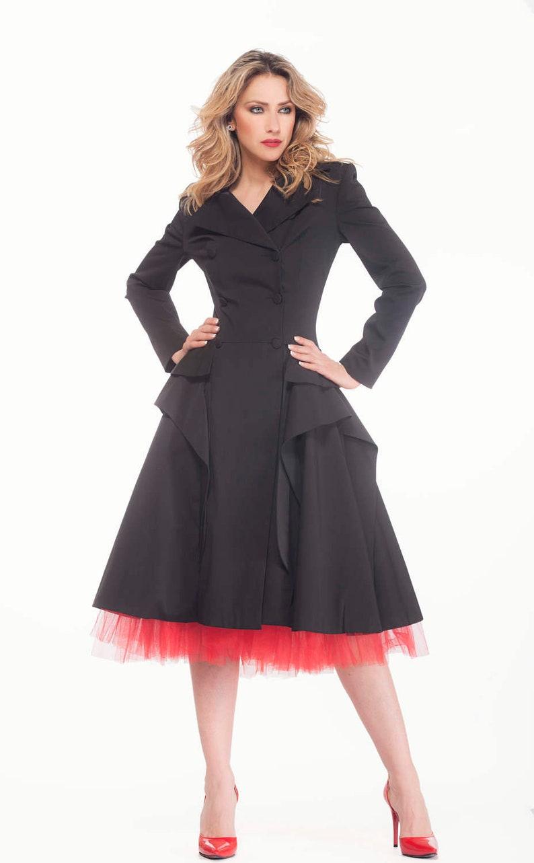 Trench Coat Black Coat Gothic Clothing Plus Size Coat | Etsy
