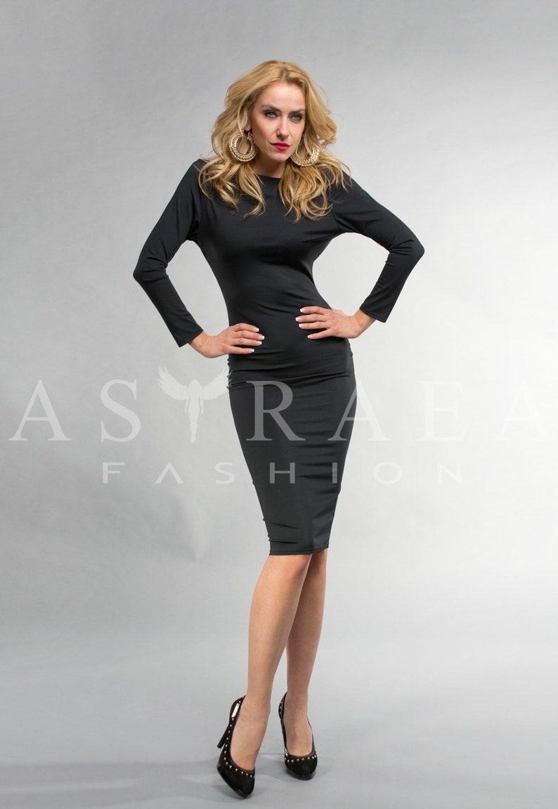 4de2c77d5f Short Black Open Back Zipper Cocktail Party Prom Dress Formal