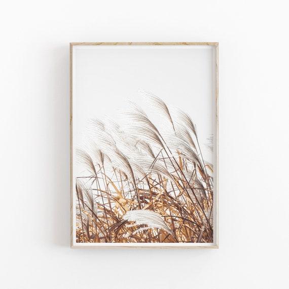 Modern Minimalist Poster Pampas Grass Print INSTANT DOWNLOAD Printable Wall Decor Botanical Print Set of 2 Printable Art
