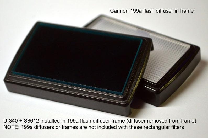 Hoya U-340  Schott S8612 UV-Only Flash Filter Stack for Canon image 0