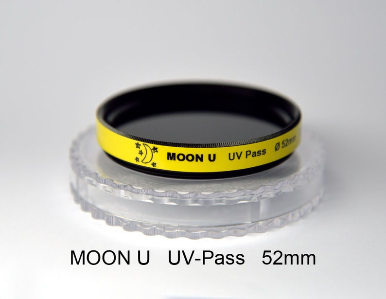 Moon U 52mm (any size, ask) UV-Pass Camera Filter Ultraviolet Photography