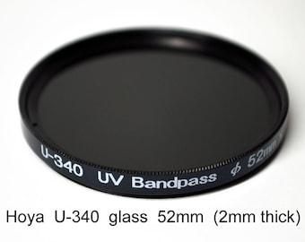 Hoya U-340 52mm (+ other sizes) x 2mm thick UV Pass Ultraviolet Dual Band IR Filter