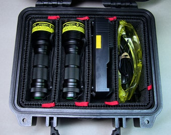 2 'Nemo' DELUXE kit UV flashlight UV-pass filters Batteries/Changer Glasses/Case