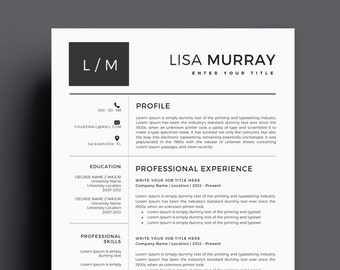 resume template cv template for ms word best selling etsy