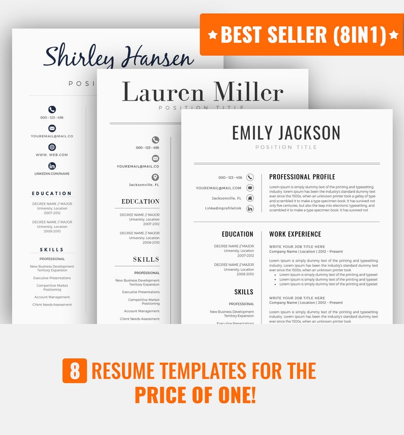 Resume Template CV Template Professional Resume Template image 0