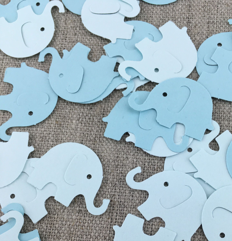Blue Baby Elephant Confetti 25 50 100 PCS Baby Shower Decor | Etsy