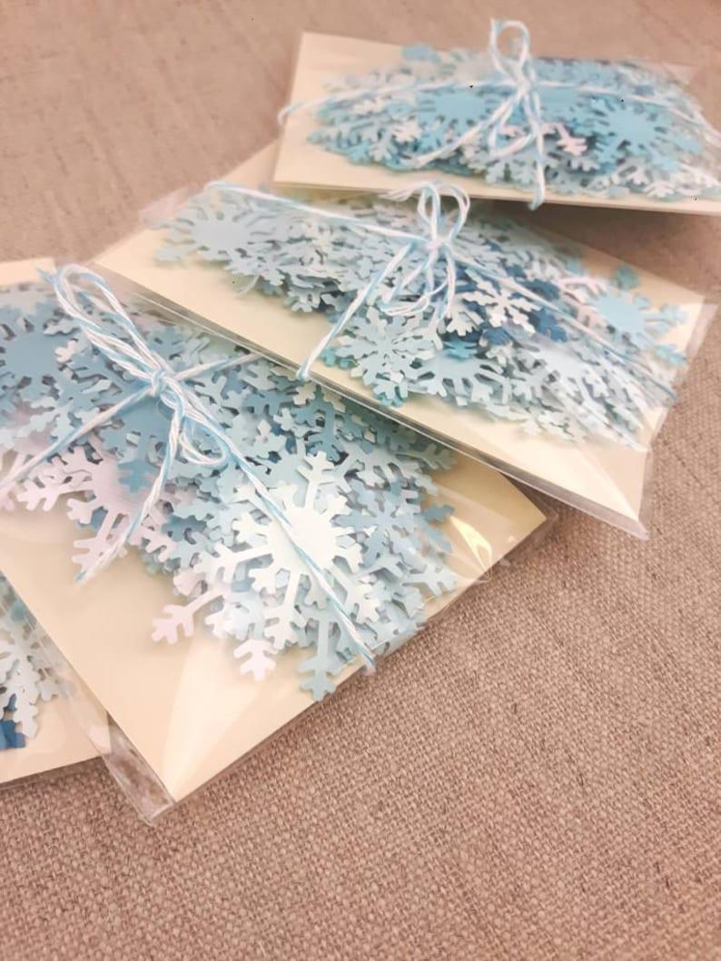 Frozen Table Scatter Snowflakes 150 Pcs Winter Wonderland Etsy