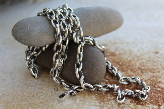 GORGEOUS NEW 925 SILVER LINK CHAIN IN LENGTHS 16-30in FREE UK P/&P