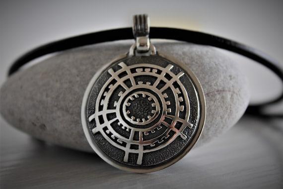 3mm Rot geflochtenes Leder Armband mit 925 Sterlingsilber Ohm Symbol Charm