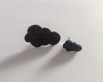 """Star & cloud"" earrings"