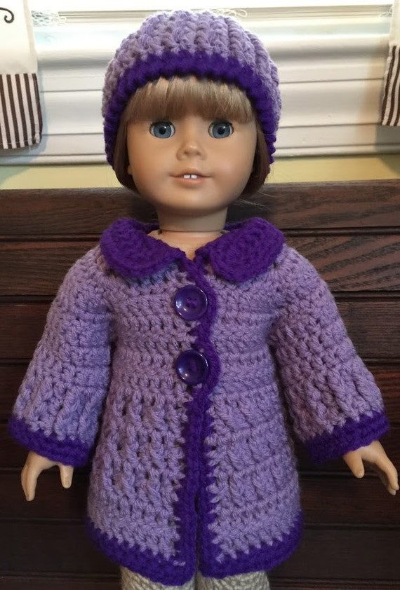Handmade doll sweater and hat for 18 doll Crochet  2caddf084