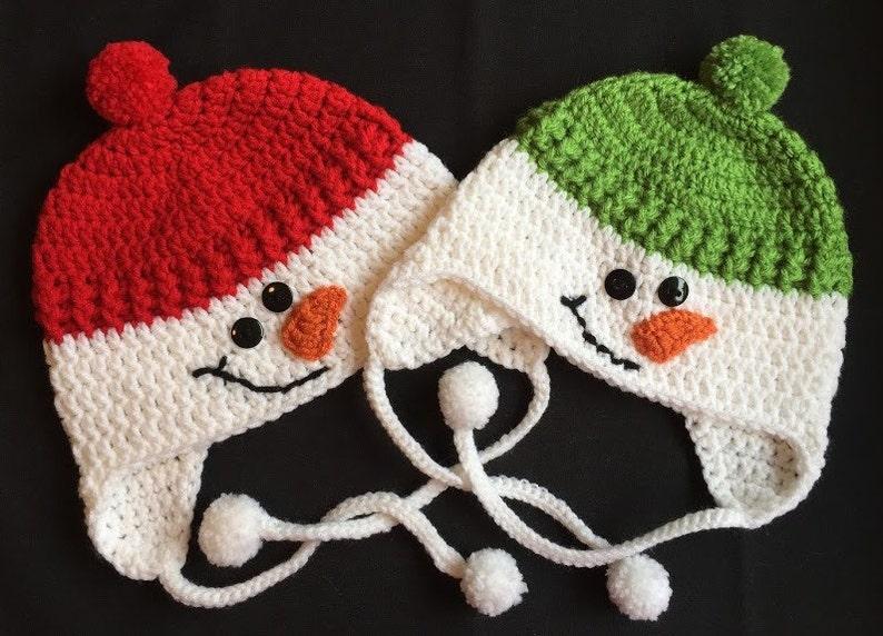 Crochet Snowman Hat Baby Snowman Hat Snowman Hat Green  1c2fe42c64e8
