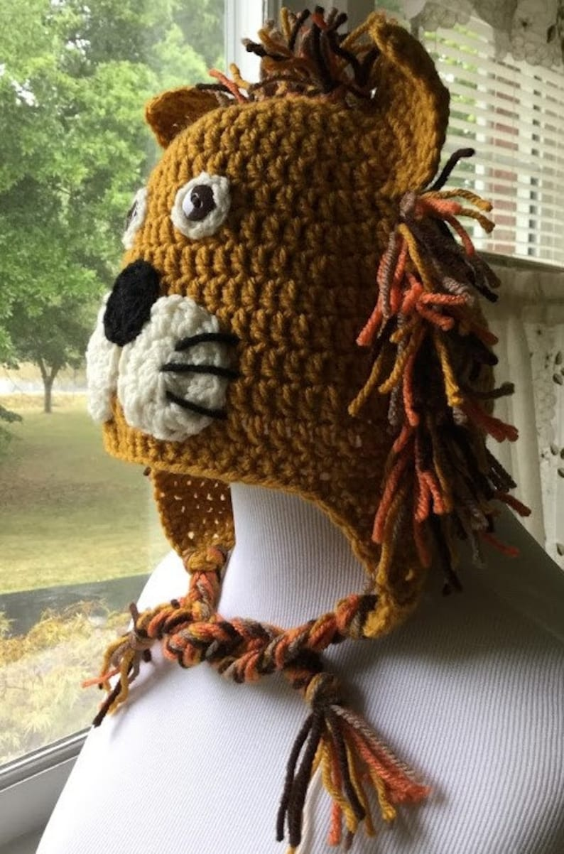 838e10d503a790 Crochet Lion Hat Lion Hat Character Hat Animal Hat Crochet | Etsy