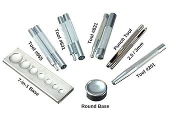 20 mm Snap jewelry die mold Snap button base rivet setting tool set snap jewelry bases and makes jewelry displays and accessories