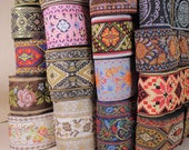 Vintage Chinese Jacquard Ribbon Braid Trim Embroidery Sold by Yards