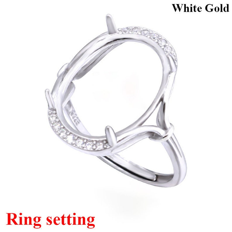 Sterling Silver Jewelry Stud Earrings Snap-in Mounting 6 mm 8 mm 8x6 Basket Set CZ Stud Earrings