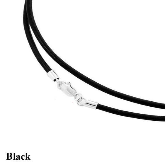 Wholesale 50CM 50pcs Bulk lot Black Waxed PU Leather String Cords Necklace Tool