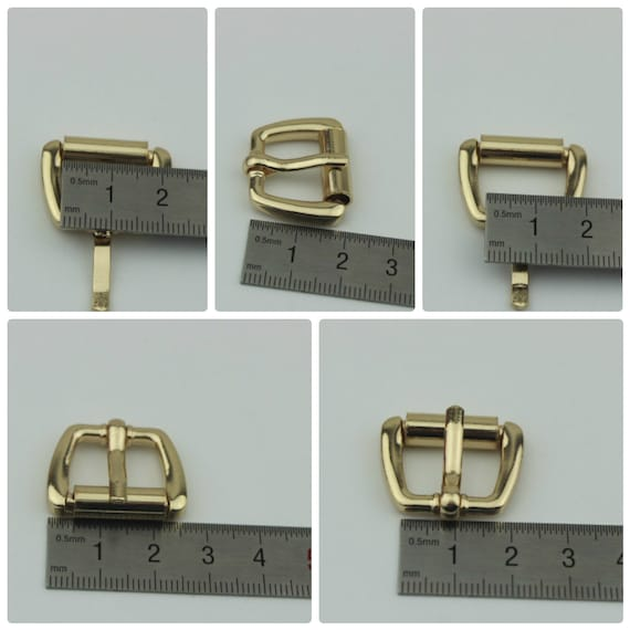 "PACK 10 pcs 20mm 3//4/"" inch Rectangle Center Heel Bar Metal Buckle for Belt Strap"