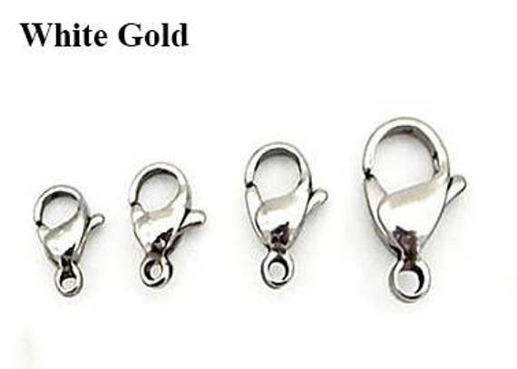 10 pcs Sterling Silver 16mm PEAR LOBSTER CLAW Clasp LOT