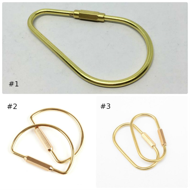 Solid Brass Keychain Keyring 2 3 inch Coil Fob Decor Connector Holder DIY Copper Hardware Findings Accessories Leathercraft Wholesale Bulk