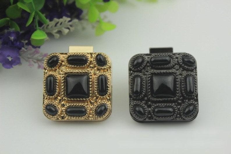 Switch Square Twist Turn Lock Bag Hardware Light Gold Gunmetal Black 220 pcs Handmade Purse Handbag Making Metal 40mm 1 58 Bulk Supplies